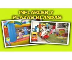 Alquiler de juegos inflables, metegol, pool, plaza blanda, tejo