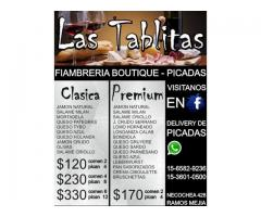 Las Tablitas, Delivery de picadas